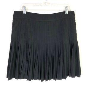 J.Crew Holiday Black Pleated Lattice Skirt